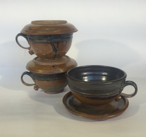 Lidded Soup Bowl with handle Dans chung
